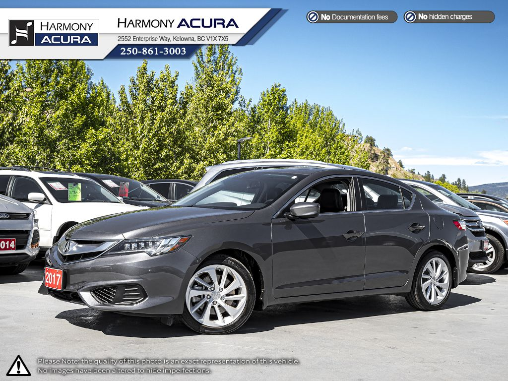 Certified Pre-Owned 2017 Acura ILX Tech Pkg - NO ACCIDENTS / DAMAGE - ONE OWNER - LOW KM - SUNROOF - BACKUP CAM - NAVI SYSTEM