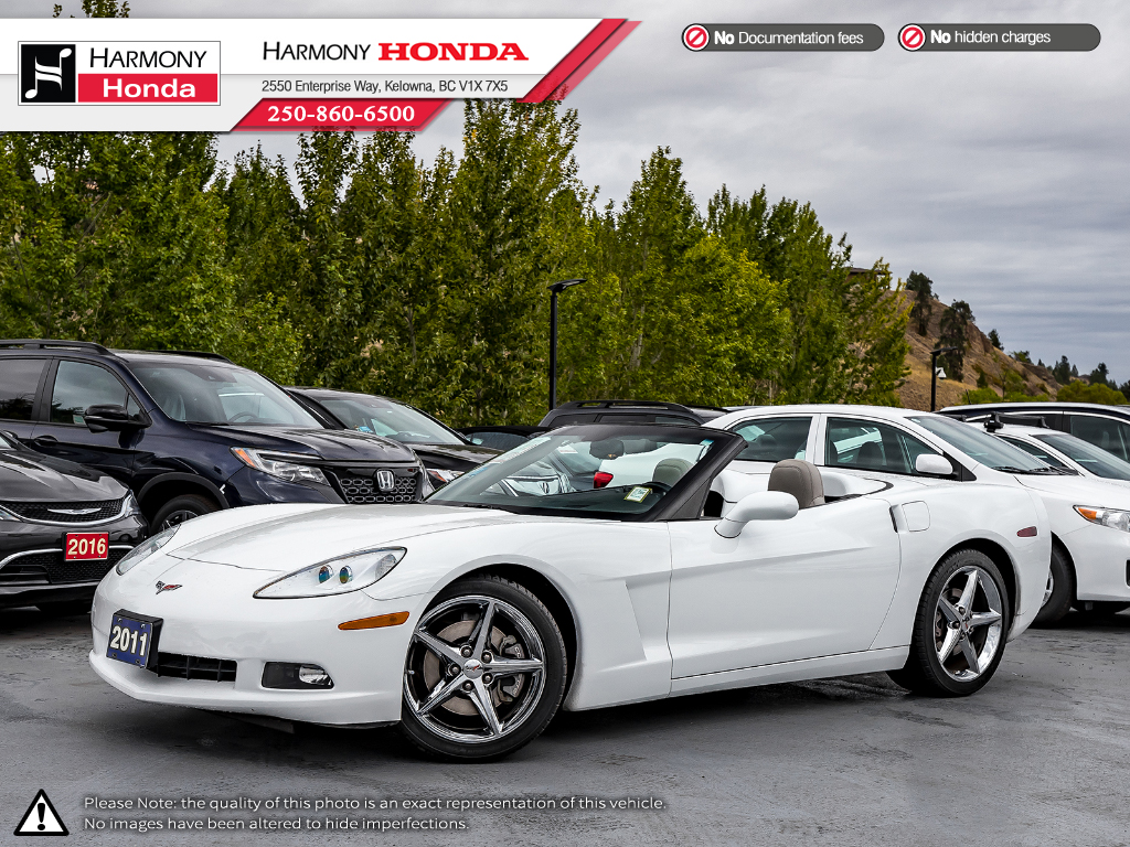 Pre-Owned 2011 Chevrolet Corvette W/3LT - FOUR NEW TIRES - 4 NEW ROTORS & PADS - LOW KMS - HUD - FOG LIGHTS