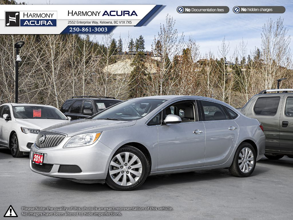 Pre-Owned 2014 Buick Verano LEATHER PKG - LOW KMS - WELL SERVICED - BC VEHICLE - NON-SMOKER DRIVEN - REMOTE KEYLESS ENTRY