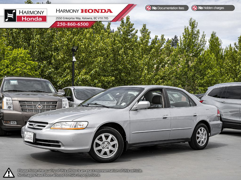 Pre-Owned 2002 Honda Accord Sedan SE - BC VEHICLE - SUNROOF - 2ND SET OF TIRES - NEW TIMING BELT - NEW SERPENTINE BELT