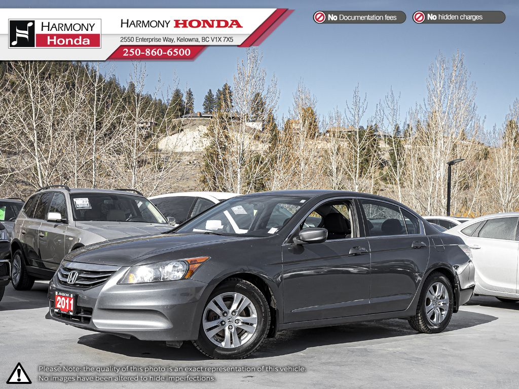 Pre-Owned 2011 Honda Accord Sedan SE - BC VEHICLE - NO ACCIDENTS - ONE OWNER - NON SMOKER