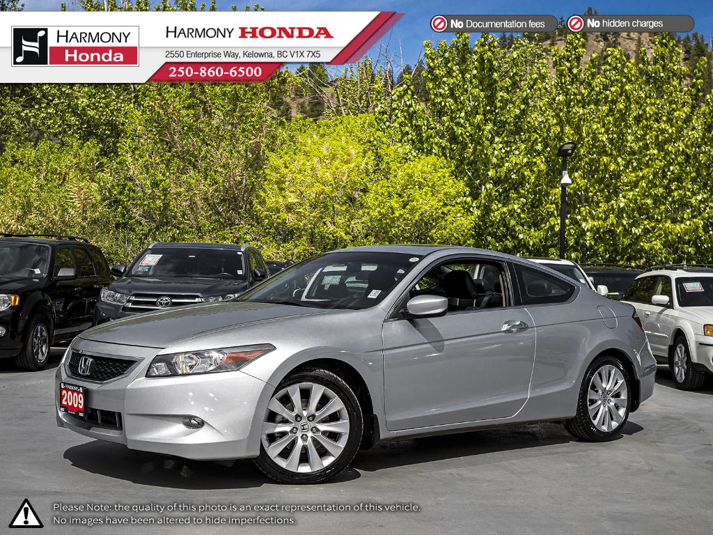 Pre-Owned 2009 Honda Accord Coupe EX-L Navi - LOCAL VEHICLE - NO ACCIDENTS - ONE OWNER - LOW KM - SUNROOF - NAVI SYSTEM - BLUETOOTH