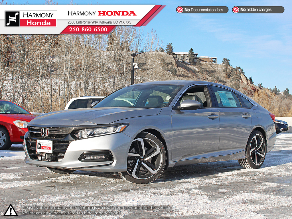 New 2018 Honda Accord Sedan Sport 20 4 Door Car In Kelowna 18315