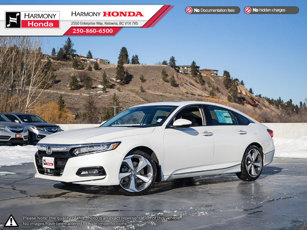 Honda Accord Sedan >> New 2019 Honda Accord Sedan Touring 2 0 Front Wheel Drive 4 Door Car