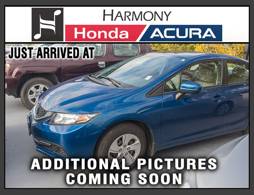 Pre Owned 2014 Honda Civic Sedan LX   NO ACCIDENTS OR DAMAGE   LOW KMS    BOUGHT AND SERVICED AT HARMONY Honda   BC VEHICLE