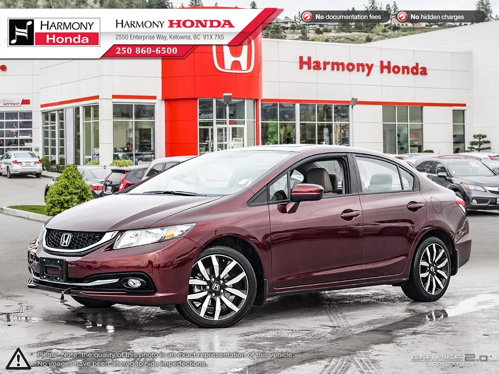 Pre-Owned 2014 Honda Civic Sedan TOURING - NO ACCIDENTS - NON SMOKER - LOW KM - NAVI SYSTEM - BACKUP CAM - SUNROOF - FACTORY WARRANTY