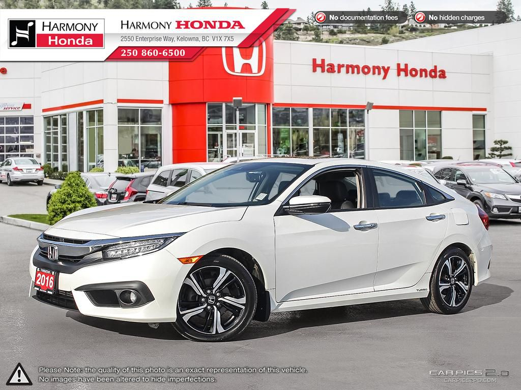 Pre-Owned 2016 Honda Civic Sedan TOURING - NAVIGATION SYSTEM - BACKUP CAMERA - SUNROOF - FOG LIGHTS - FACTORY WARRANTY