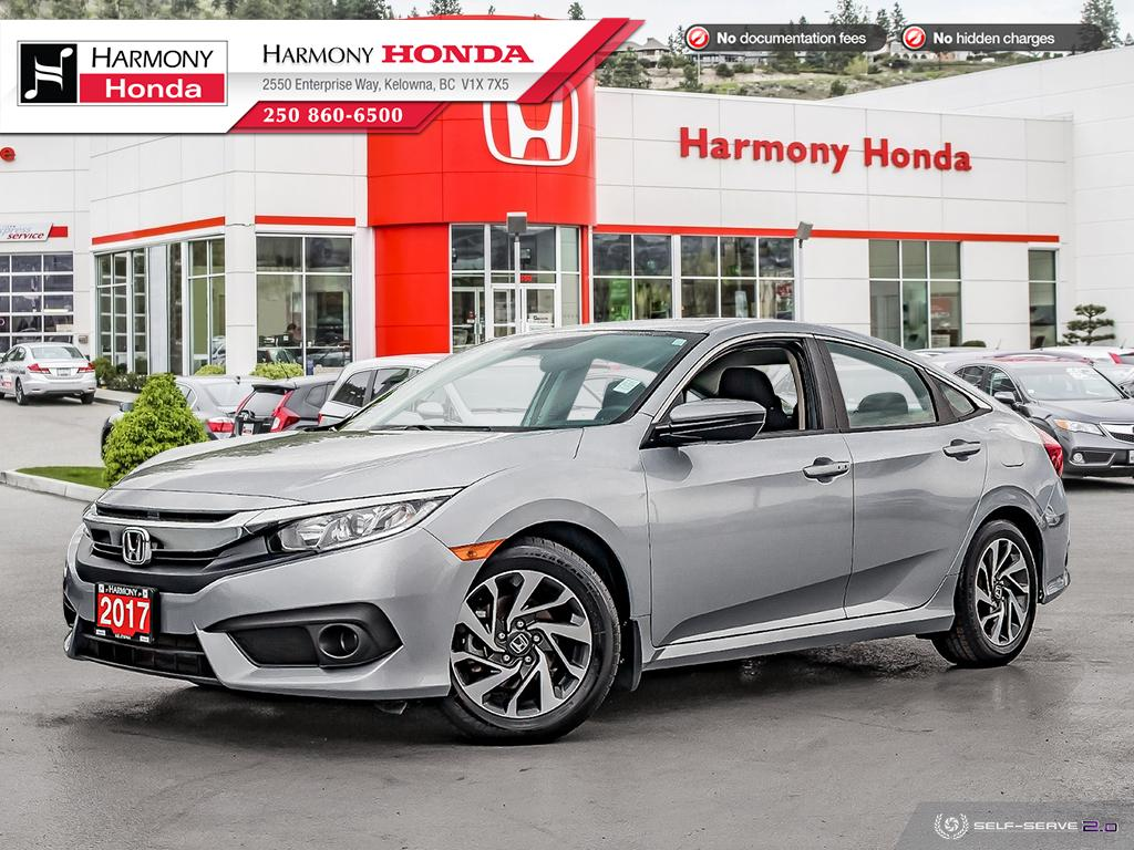 Pre-Owned 2017 Honda Civic Sedan EX-HS - NO ACCIDENTS - ONE OWNER - SUNROOF - BACKUP CAM - FACTORY WARRANTY - NEW TIRES