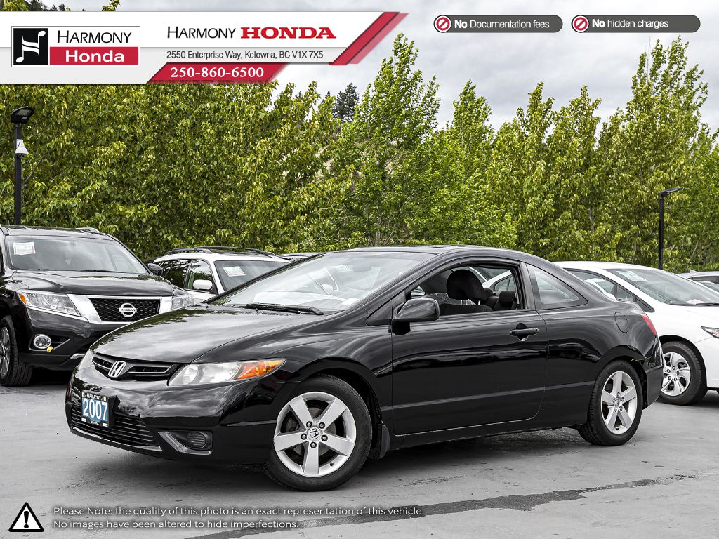 Pre-Owned 2007 Honda Civic Coupe EX - BC VEHICLE - SUNROOF - 2ND SET OF TIRES - NEW BATTERY