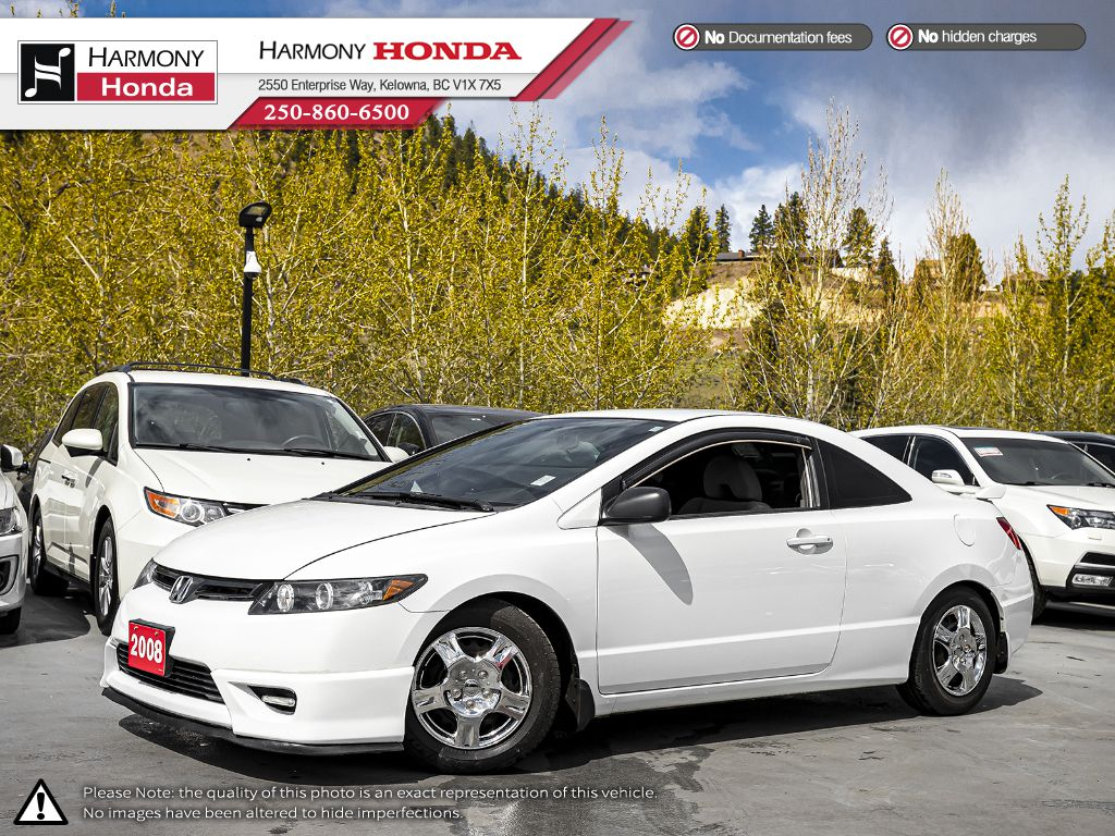 Pre-Owned 2008 Honda Civic Coupe DX - BC VEHICLE - ONE OWNER - NON SMOKER - LOW KM - FOG LIGHTS