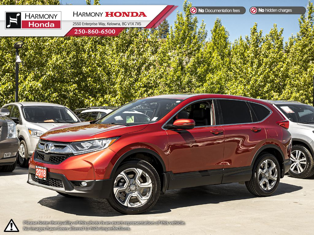 Certified Pre-Owned 2018 Honda CR-V EX-L - LOCAL VEHICLE - NO ACCIDENTS/DAMAGE - ONE OWNER - LOW KM - SUNROOF - BACKUP CAM