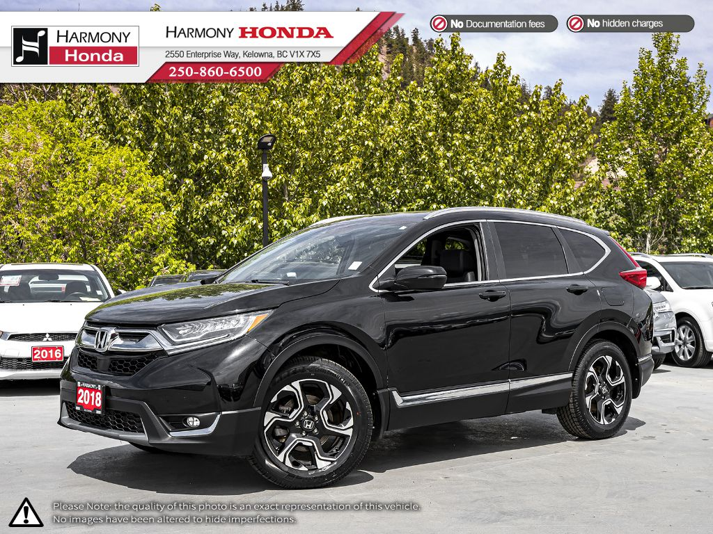 Pre-Owned 2018 Honda CR-V Touring - NO ACCIDENTS - 1 OWNER - BACKUP CAM - NAVI SYSTEM - PANORAMIC SUNROOF - EXTENDED WARRANTY