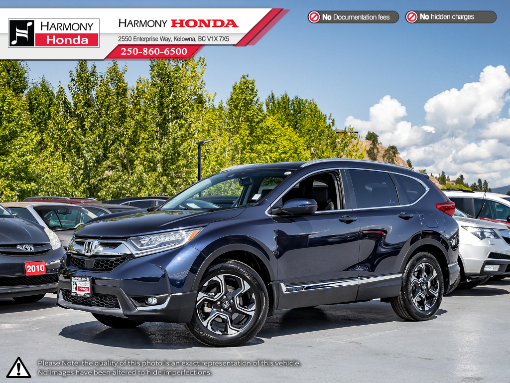 Pre-Owned 2019 Honda CR-V TOURING - NO ACCIDENTS OR DAMAGE - ONE OWNER - BC VEHICLE - LOS KMS - FULLY LOADED - Honda SENSING