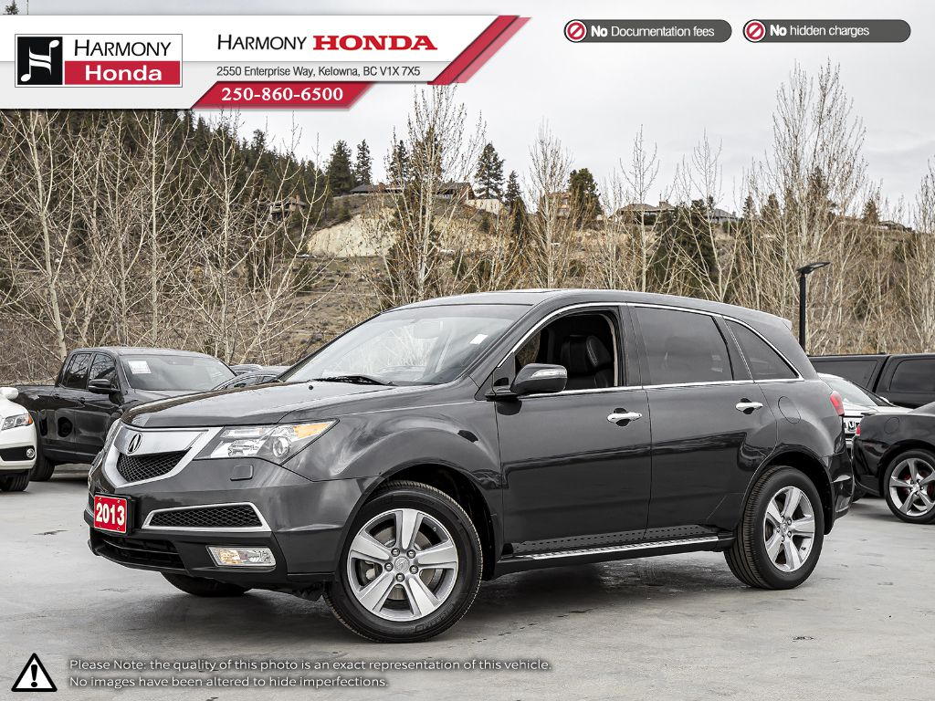 Pre-Owned 2013 Acura MDX - BC VEHICLE - LOW KM - SUNROOF - BACKUP CAMERA - BLUETOOTH - NEW BRAKES - LEATHER INTERIOR