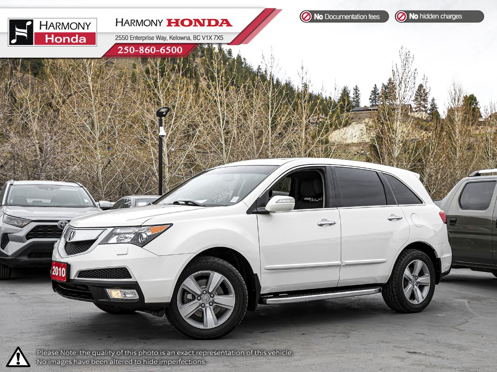 Pre-Owned 2010 Acura MDX Tech Pkg - BC VEHICLE - NO ACCIDENTS - LOW KM - SUNROOF - BACKUP CAMERA - NAVI SYSTEM - BLUETOOTH