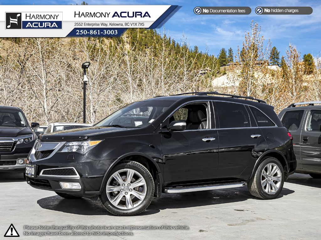 Pre-Owned 2010 Acura MDX Elite Pkg - BC VEHICLE - SUNROOF - BACKUP CAMERA - NAVIGATION SYSTEM - NEW TIRES - LEATHER INTERIOR