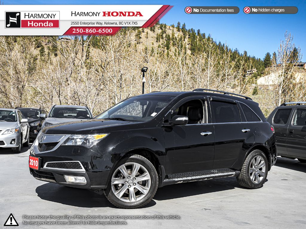 Pre-Owned 2010 Acura MDX Elite Pkg - BC VEHICLE - SUNROOF - BACKUP CAMERA - NAVIGATION SYSTEM - BLUETOOTH - LEATHER INTERIOR