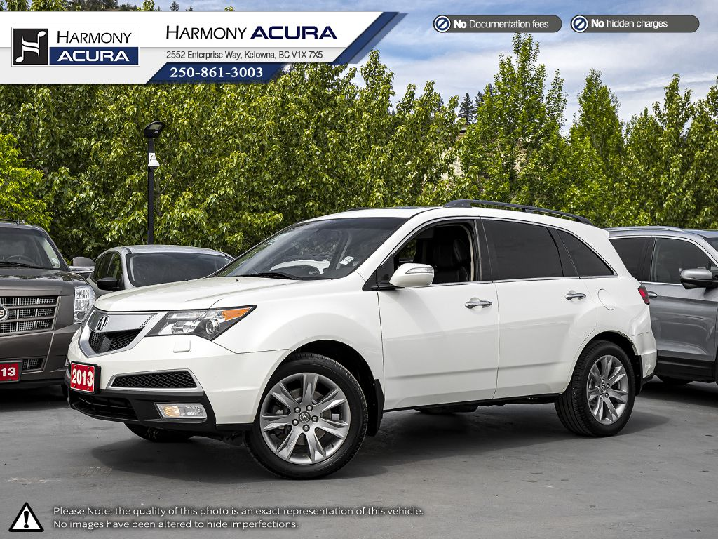 Pre-Owned 2013 Acura MDX Elite Pkg - BC VEHICLE - NO ACCIDENTS - SUNROOF - BACKUP CAM - NAVI SYSTEM - 3M ROCK PROTECTION