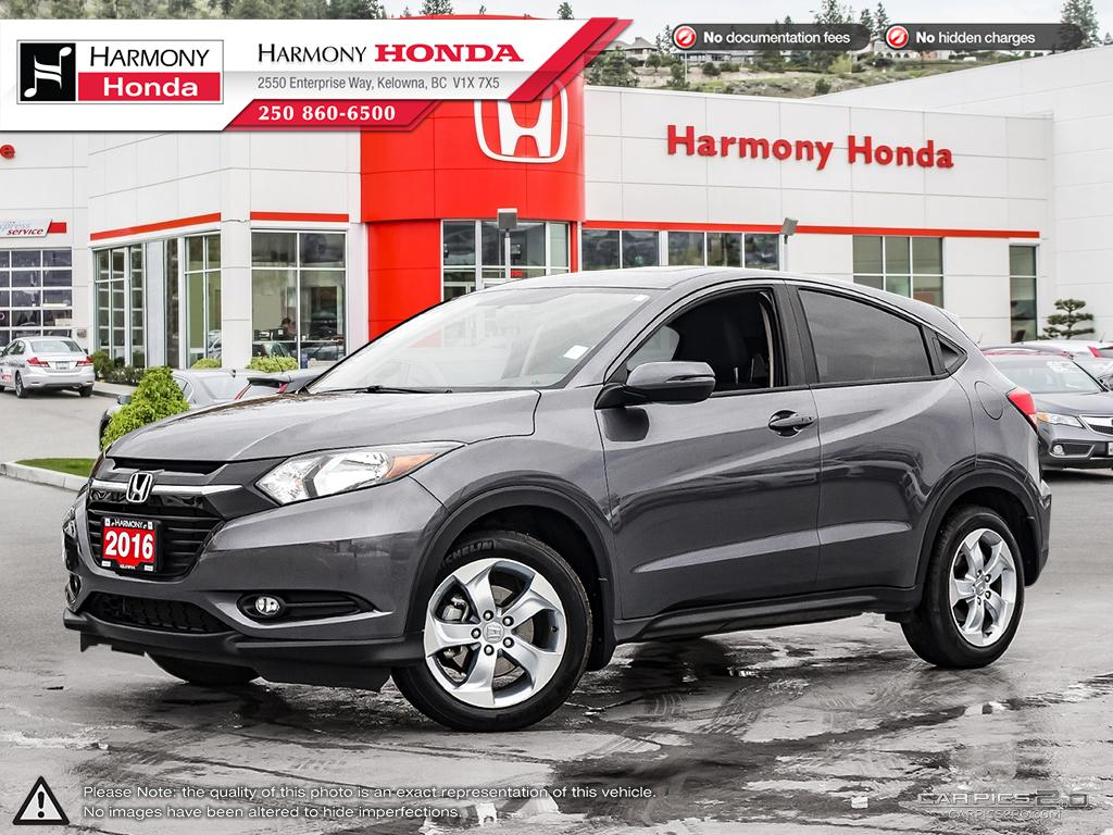 Pre-Owned 2016 Honda HR-V EX - BC SUV - NO ACCIDENTS - 1 OWNER - NON SMOKER - LOW KM - BACKUP CAM - SUNROOF- FACTORY WARRANTY