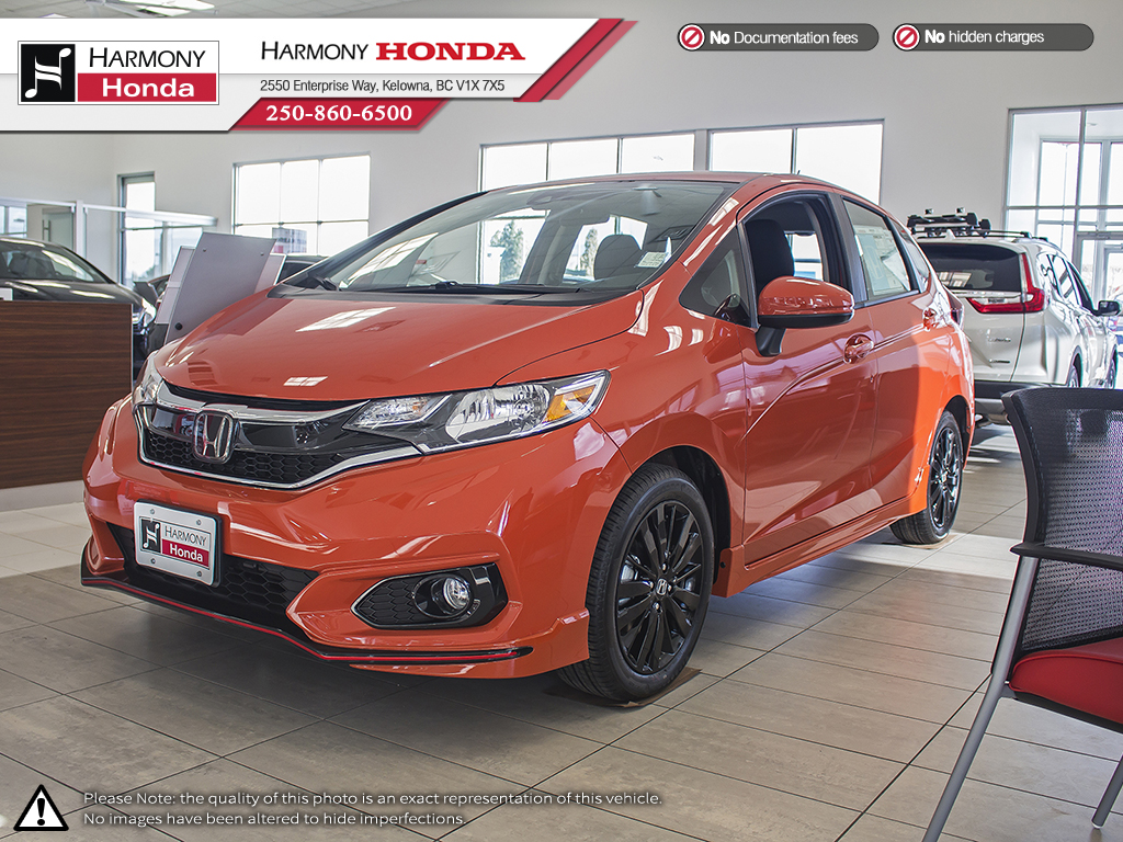 New 2018 Honda Fit SPORT 4 Door Car in Kelowna