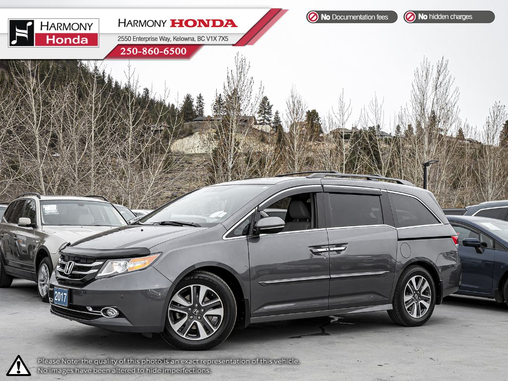 Certified Pre-Owned 2017 Honda Odyssey TOURING - BC VEHICLE - LOW KM - NAVI SYSTEM - BLUETOOTH - LEATHER INTERIOR