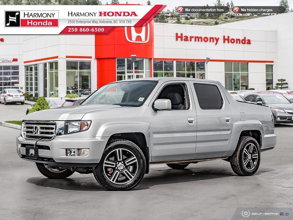 Pre-Owned 2014 Honda Ridgeline SPORT - BC VEHICLE - NO ACCIDENTS / DAMAGE - NON SMOKER - LOW KM - BACKUP CAMERA