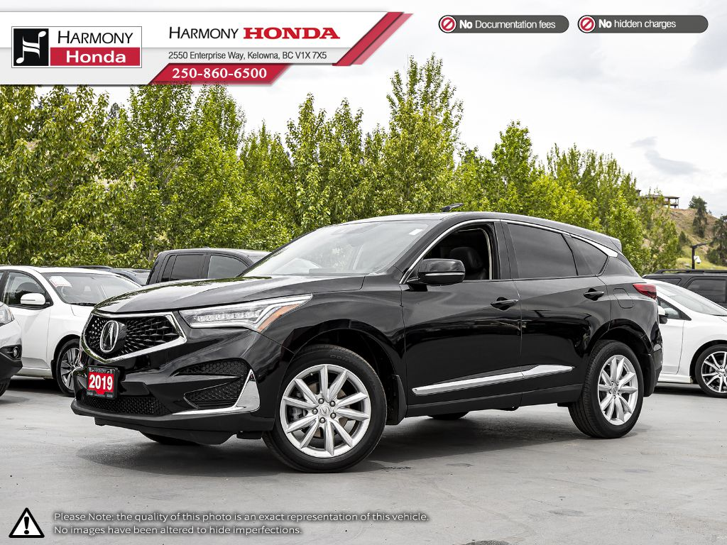 Certified Pre-Owned 2019 Acura RDX Tech Pkg - BC VEHICLE - NO ACCIDENTS - LOW KM - BACKUP CAM - NAVI SYSTEM - PANORAMIC SUNROOF
