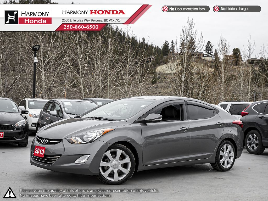 Pre-Owned 2013 Hyundai Elantra LIMITED - BC VEHICLE - LOW KM - SUNROOF - BACKUP CAMERA - NAVI SYSTEM - NEW TIRES - LEATHER INTERIOR