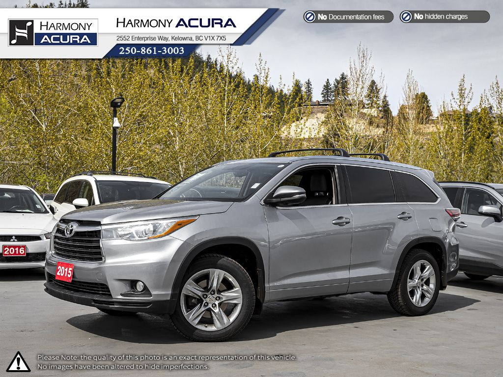 Pre-Owned 2015 Toyota Highlander LIMITED - BC VEHICLE - NO ACCIDENTS - ONE OWNER - BACKUP CAM - NAVI SYSTEM - PANORAMIC SUNROOF