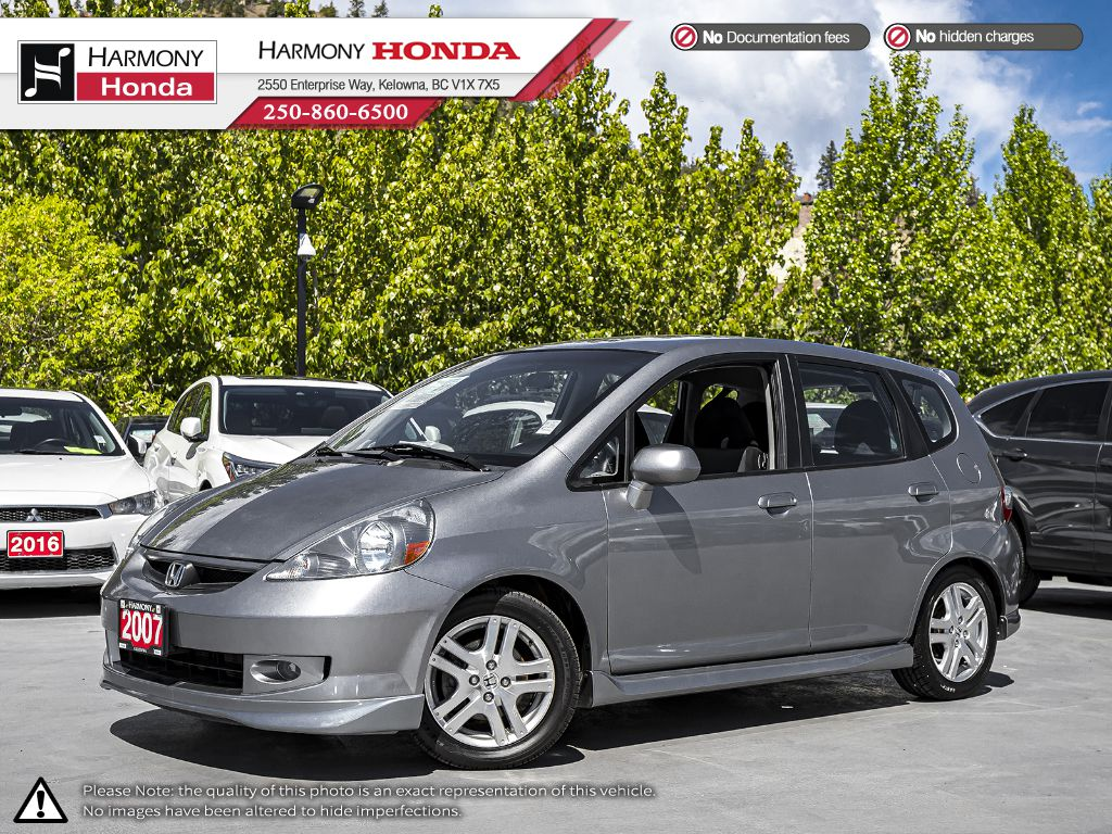 Pre-Owned 2007 Honda Fit Sport - BC VEHICLE - LOW KM - FOG LIGHTS - 2ND SET OF TIRES - WELL SERVICED