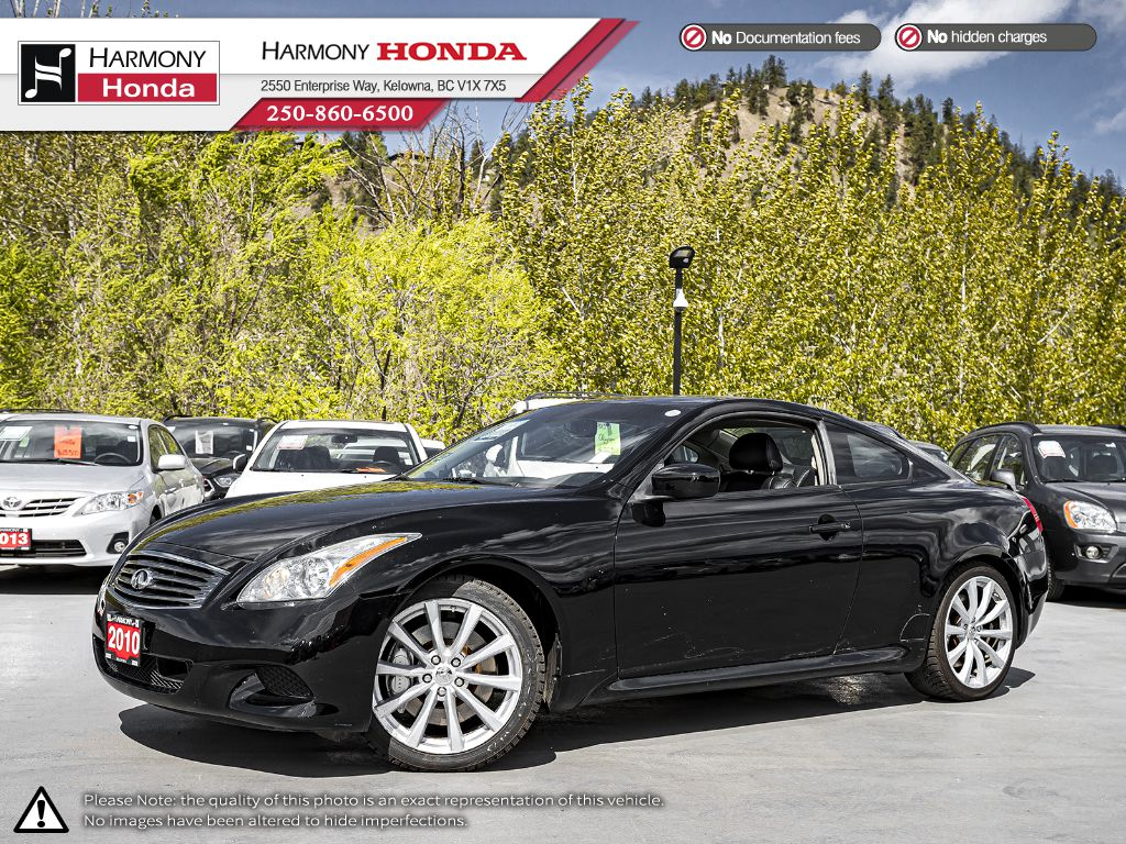 Pre-Owned 2010 INFINITI G37 Coupe - BC VEHICLE - LOW KM - SUNROOF - NAVIGATION SYSTEM - LEATHER INTERIOR