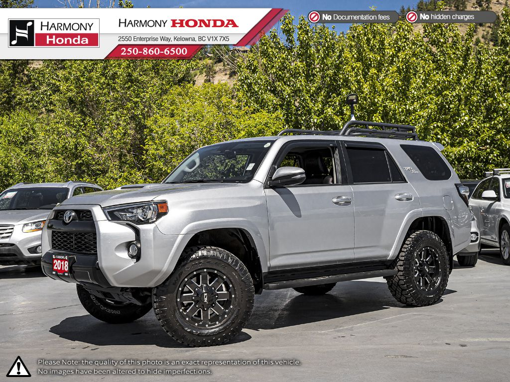 Pre-Owned 2018 Toyota 4Runner TRD Pro - BC VEHICLE - NO ACCIDENTS / DAMAGE - SUNROOF - BACKUP CAM - NAVI SYSTEM - LEATHER INTERIOR