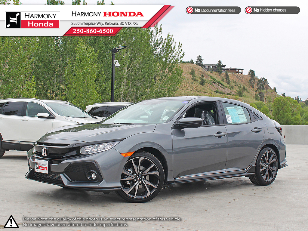 New 2018 Honda Civic Hatchback Sport 4 Door Car In Kelowna 18565