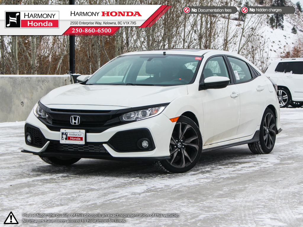 new 2018 honda civic hatchback sport 4 door car in kelowna 18219 harmony honda. Black Bedroom Furniture Sets. Home Design Ideas