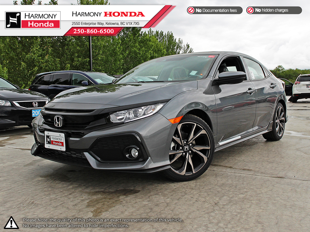 new 2017 honda civic hatchback sport 4 door car in kelowna 17490 harmony honda. Black Bedroom Furniture Sets. Home Design Ideas