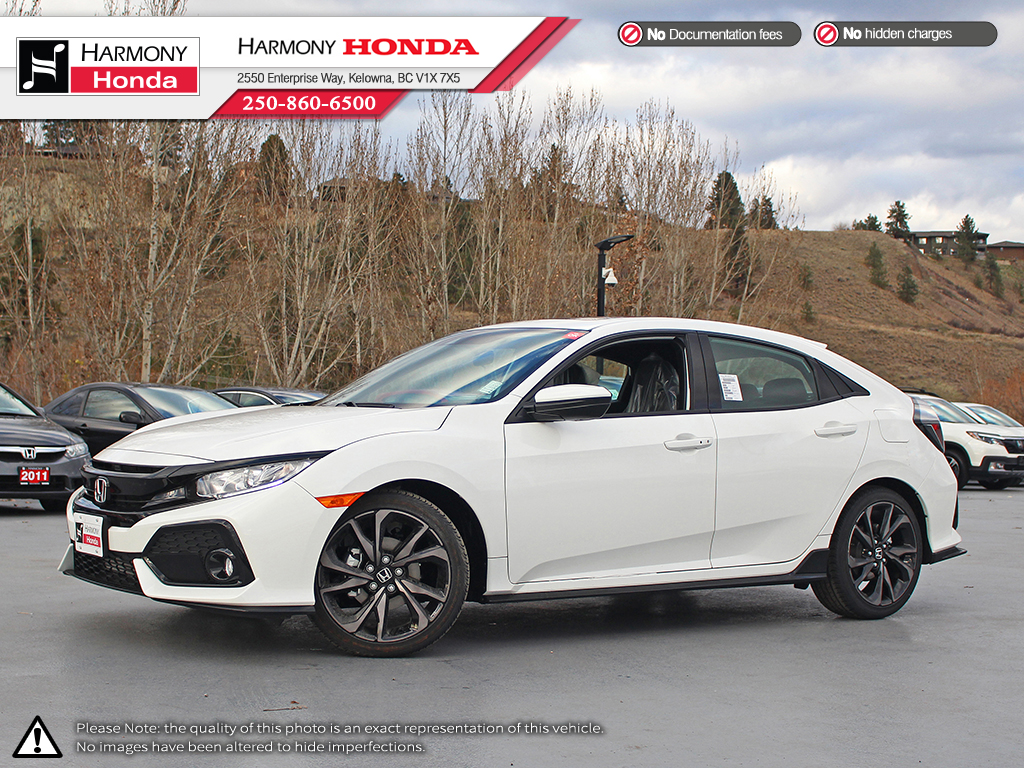New 2019 Honda Civic Hatchback SPORT Front Wheel Drive 4 Door Car