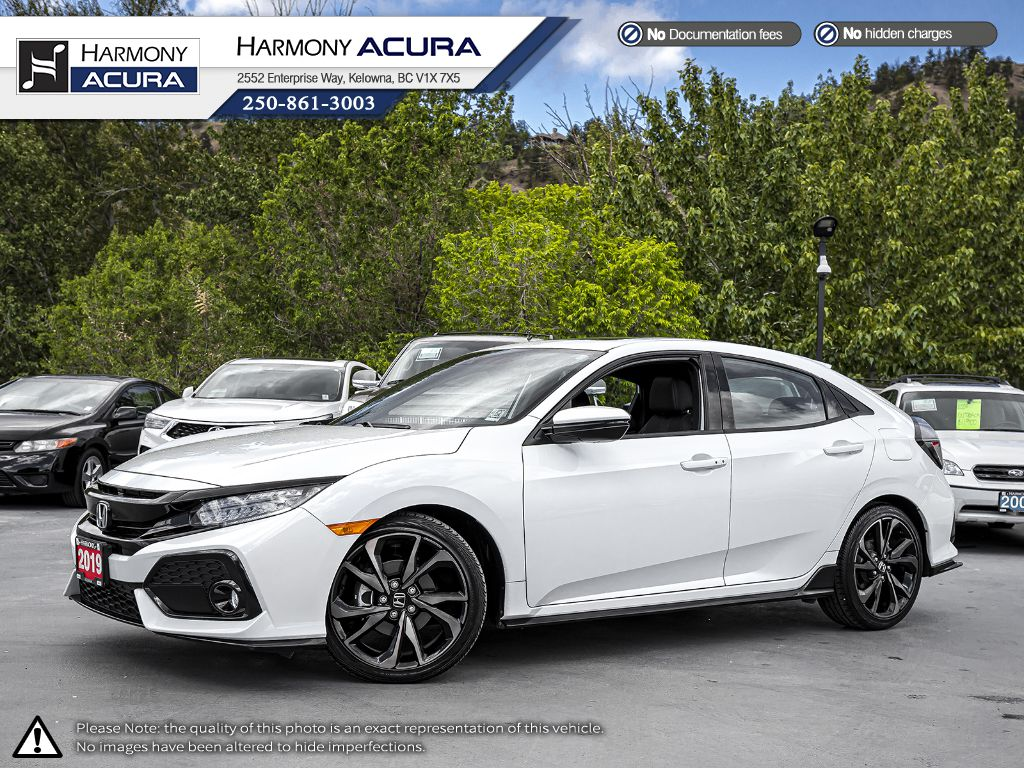 Certified Pre-Owned 2019 Honda Civic Hatchback Sport Touring - LOCAL - NO ACCIDENTS - SUNROOF - BACKUP CAM - NAVI SYSTEM - FACTORY WARRANTY