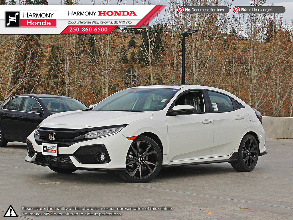 new 2018 honda civic hatchback sport touring 4 door car in kelowna 18137 harmony honda. Black Bedroom Furniture Sets. Home Design Ideas
