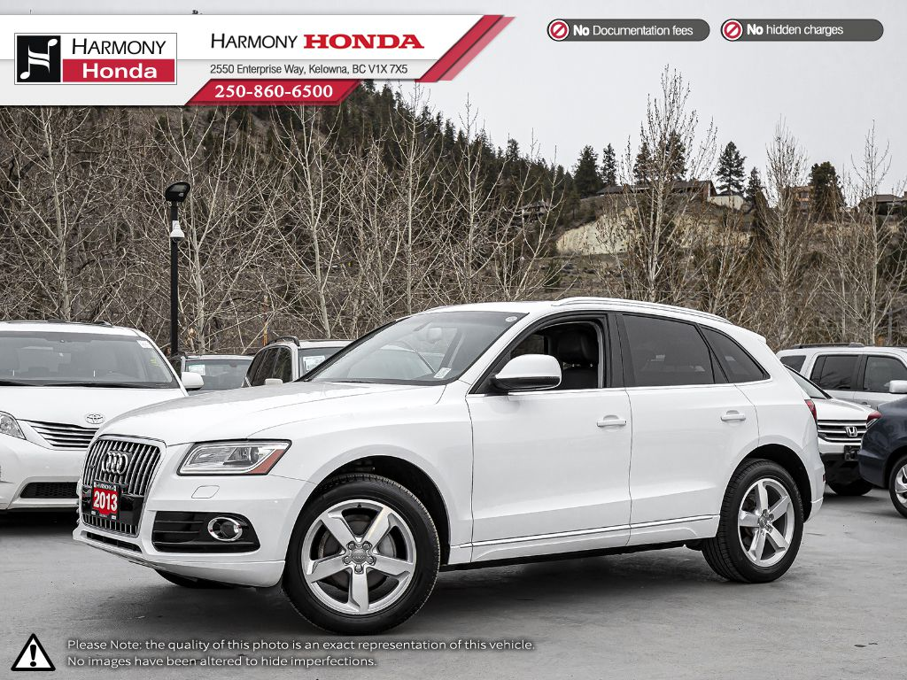 Pre-Owned 2013 Audi Q5 PREMIUM PLUS - BC VEHICLE - NON SMOKER - PANORAMIC SUNROOF - LEATHER INTERIOR - FOG LIGHTS
