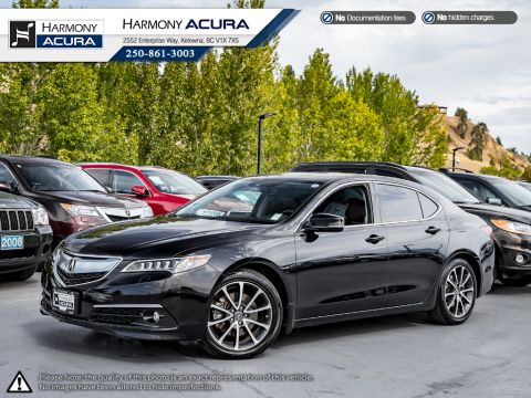 Certified Pre-Owned 2015 Acura TLX ELITE - ACURA CERTIFIED - BC VEHICLE - LOW KM - SUNROOF - BACKUP CAMERA - NAVI SYSTEM - LEATHER