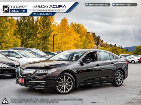 Pre-Owned 2015 Acura TLX TECH V6 - BC VEHICLE - ONE OWNER - SUNROOF - BACKUP CAMERA - NAV SYSTEM - BLUETOOTH - NEW TIRES
