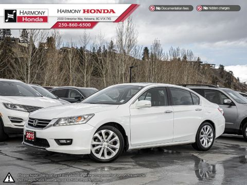 Pre-Owned 2015 Honda Accord Sedan TOURING - BC VEHICLE - ONE OWNER - NON SMOKER - SUNROOF - BACKUP CAMERA - NAVI SYSTEM - NEW TIRES