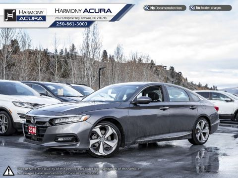 Pre-Owned 2018 Honda Accord Sedan TOURING - NO ACCIDENTS OR DAMAGE - BC VEHICLE - ONE OWNER - WELL TAKEN CARE OF - NAVIGATION