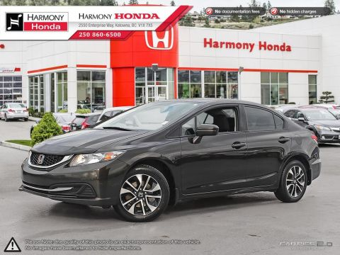 Pre-Owned 2014 Honda Civic Sedan EX - NON SMOKER - BACKUP CAMERA - SUNROOF - NEW TIRES - NEW FRONT BRAKES - UNIQUE COLOUR