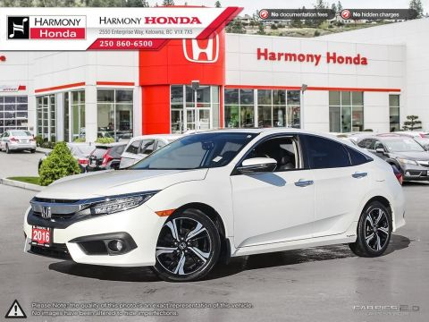 Pre-Owned 2016 Honda Civic Sedan TOURING - BC VEHICLE - LOW KM - NAVIGATION SYSTEM - BACKUP CAMERA - SUNROOF - FACTORY WARRANTY