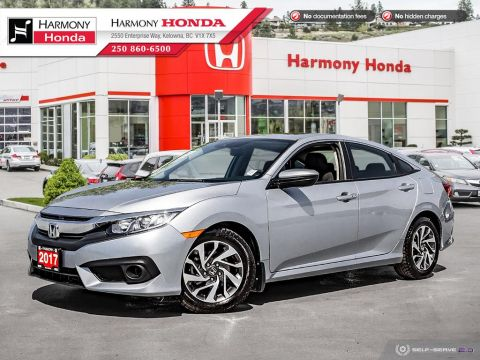 Pre-Owned 2017 Honda Civic Sedan EX-HS - BC VEHICLE - NON SMOKER - SUNROOF - BACKUP CAMERA - FACTORY WARRANTY - SUPER RELIABLE
