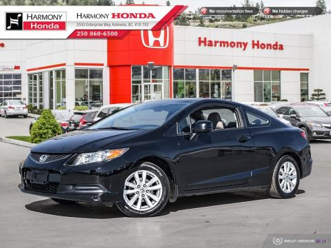 Pre-Owned 2012 Honda Civic Coupe EX - BC VEHICLE - NON SMOKER - SUNROOF