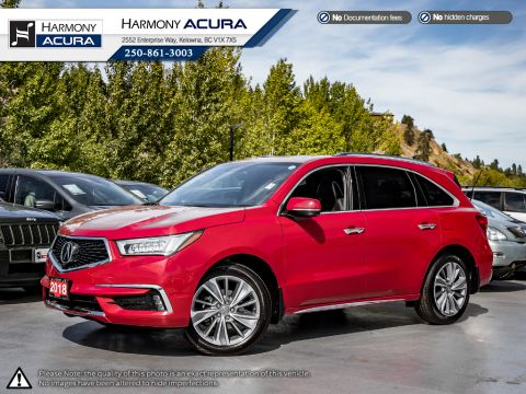 Pre-Owned 2018 Acura MDX ELITE - NO ACCIDENTS - DEMO UNIT - SUNROOF - BACKUP CAM - NAVI - FACTORY WARRANTY
